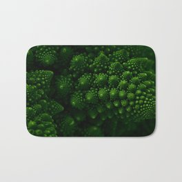 Macro Romanesco Broccoli - Low Key Bath Mat