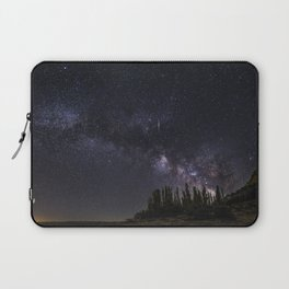 """Meteorite"". Milky way at the mountains Laptop Sleeve"