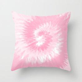 Pastel Pink Tie Dye  Throw Pillow