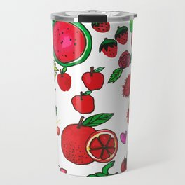 Red Fruits Drawing Travel Mug