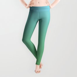 Blue and Green Transition Leggings
