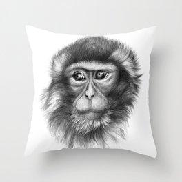 Snow Monkey G2013-069 Throw Pillow