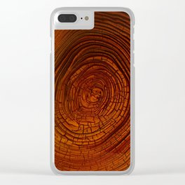 Magma Tree Rings Clear iPhone Case