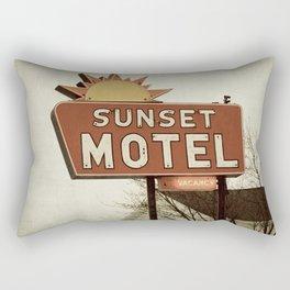 Sunset Motel Rectangular Pillow