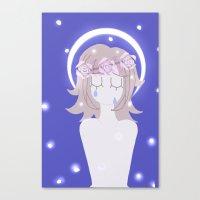 dangan ronpa Canvas Prints featuring Dangan Ronpa - Angel by MinawaKittten