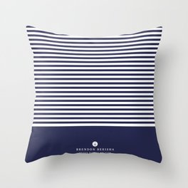 Blue stripes by Brendon Berisha Throw Pillow
