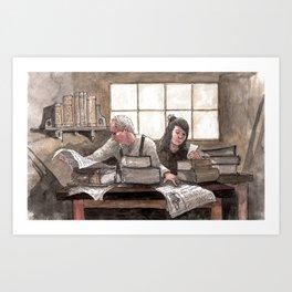 Family Book Shop Art Print