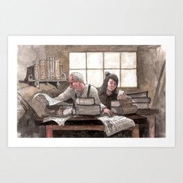 Family Book Shop Art Print