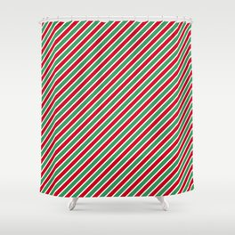 Christmas Tight Stripes Shower Curtain