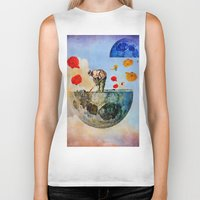 sia Biker Tanks featuring The gardener of the moon by Ganech joe
