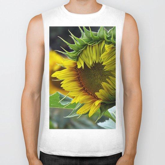 Sunflower Unfolds Biker Tank