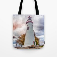 Marble-head Lighthouse Tote Bag