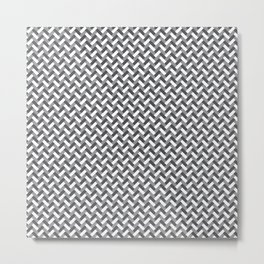 Grey weaving pattern Metal Print