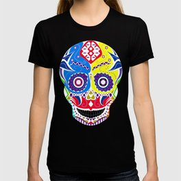 skull in candy pattern with death smile ecopop T-shirt