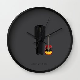 Johnny Cash | Famous Costumes Wall Clock