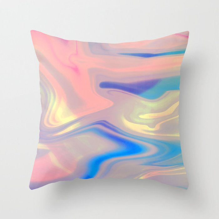 Holographic Dreams Throw Pillow