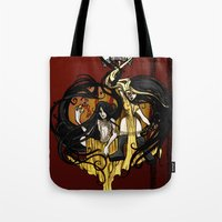 """tyrion Tote Bags featuring Reverse roleplay: Of Shadow and Gold by Barbora """"Mad Alice"""" Urbankova"""