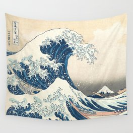 The Great Wave off Kanagawa by Katsushika Hokusai from the series Thirty-six Views of Mount Fuji Wall Tapestry