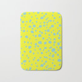 Postmodern Granite Terrazzo Large Scale in Canary Yellow + Mint Bath Mat
