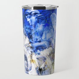Blue Symphony of Angels Travel Mug