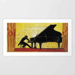 Vintage Piano Recital Illustration (1920) Art Print