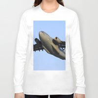 aviation Long Sleeve T-shirts featuring C-17 Globemaster Aviation USAF Take Off by Aviator