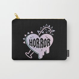 I <3 Horror (Black version) Carry-All Pouch