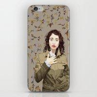 regina mills iPhone & iPod Skins featuring Regina Spektor by Iany Trisuzzi