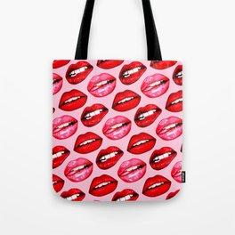 Lips Pattern - Pink Tote Bag
