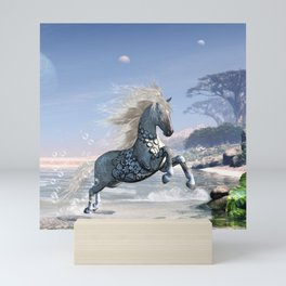Wonderful wild fantasy horse Mini Art Print