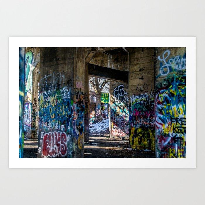 Graffiti Playground Art Print