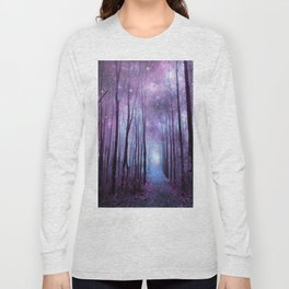 Fantasy Forest Path Muted Violet Long Sleeve T-shirt