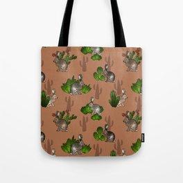 Jackrabbits and Cacti Tote Bag
