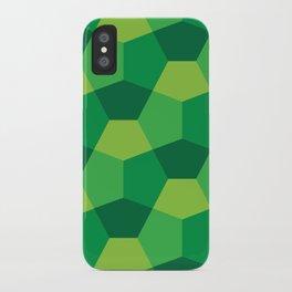 3D Glob Bricks in Green iPhone Case