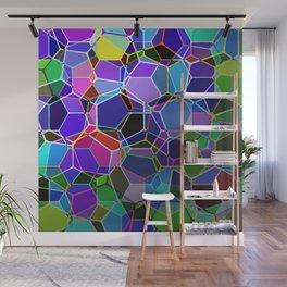 Geometric Genetics - Metallic, abstract, geometric pattern Wall Mural