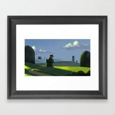 The Contemplative Plumber Framed Art Print