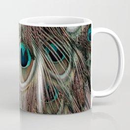 Peacock feathers abstract Coffee Mug