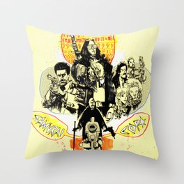 Samurai Cop Throw Pillow