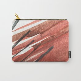 Sinatra: a minimal watercolor abstract piece in pinks, midnight blue, and white Carry-All Pouch