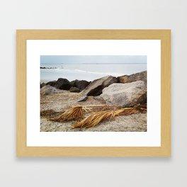 Tybee Beach Framed Art Print