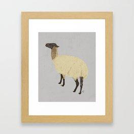 Viola the Llama Framed Art Print