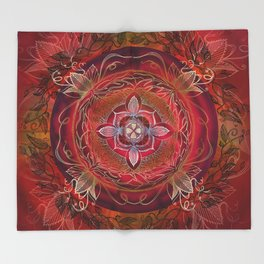 Root Chakra Throw Blanket