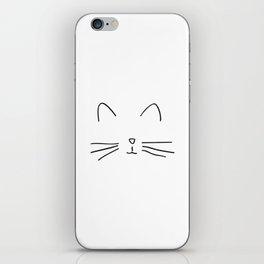 Minimalist Cat Outline iPhone Skin