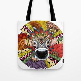 TRIBAL COW Tote Bag