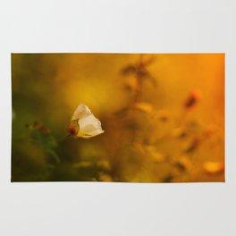 White flowers in the morning light Rug