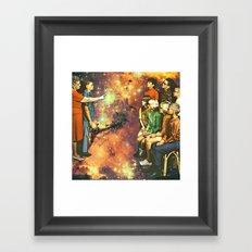Orange dimension Framed Art Print