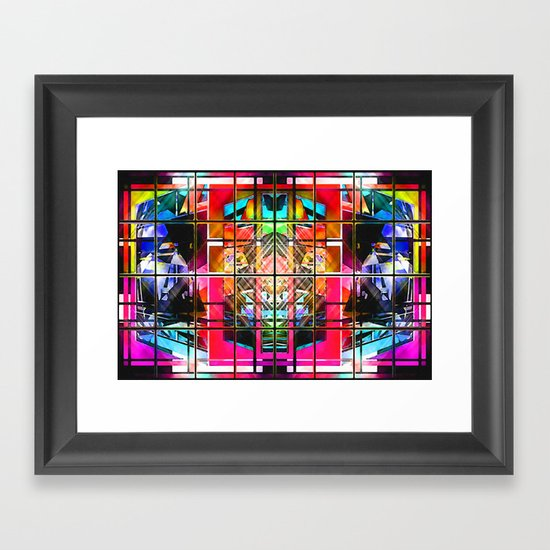 3-D-GEOMETRY AND COLOR. Framed Art Print