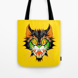 SPOOKY CAT (Smaller version YELLOW) Tote Bag