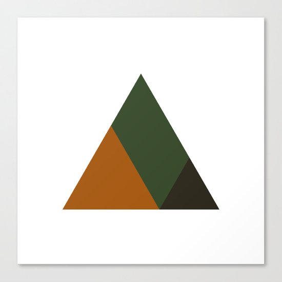 #381 Mountain top – Geometry Daily Canvas Print