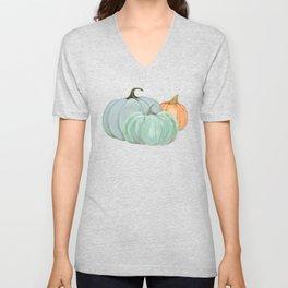 Colorful pumpkin trio Unisex V-Neck